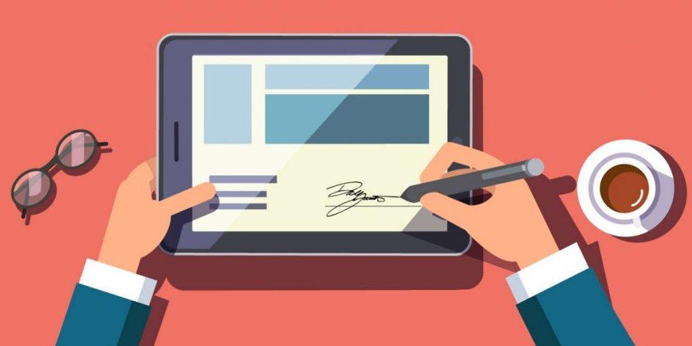 Digitální podpis. Místo tužky postačí palec nebo obličej