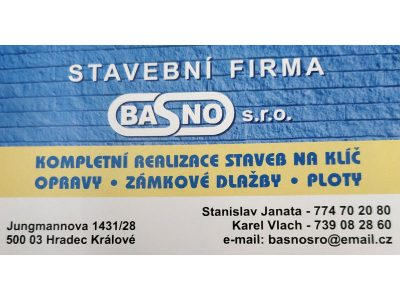 Stavební firma Basno, spol. s r.o.